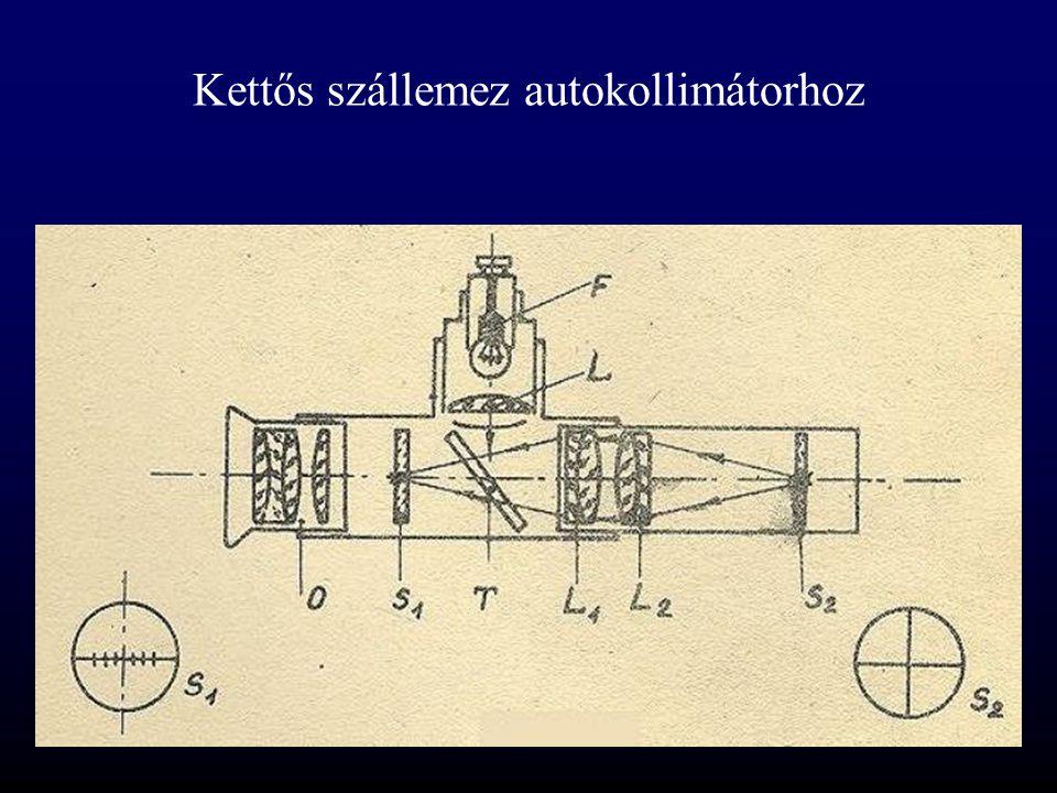 Kettős szállemez autokollimátorhoz