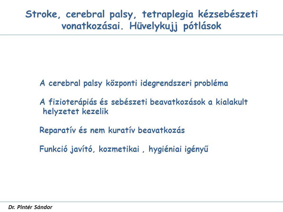 Hüvelykujj pótlások SZTE Traumatológia dr Pintér Sándor Hüvelykujjpótlás igénye Érzés Stabilitás Mobilitás Hosszúság Esztétikum
