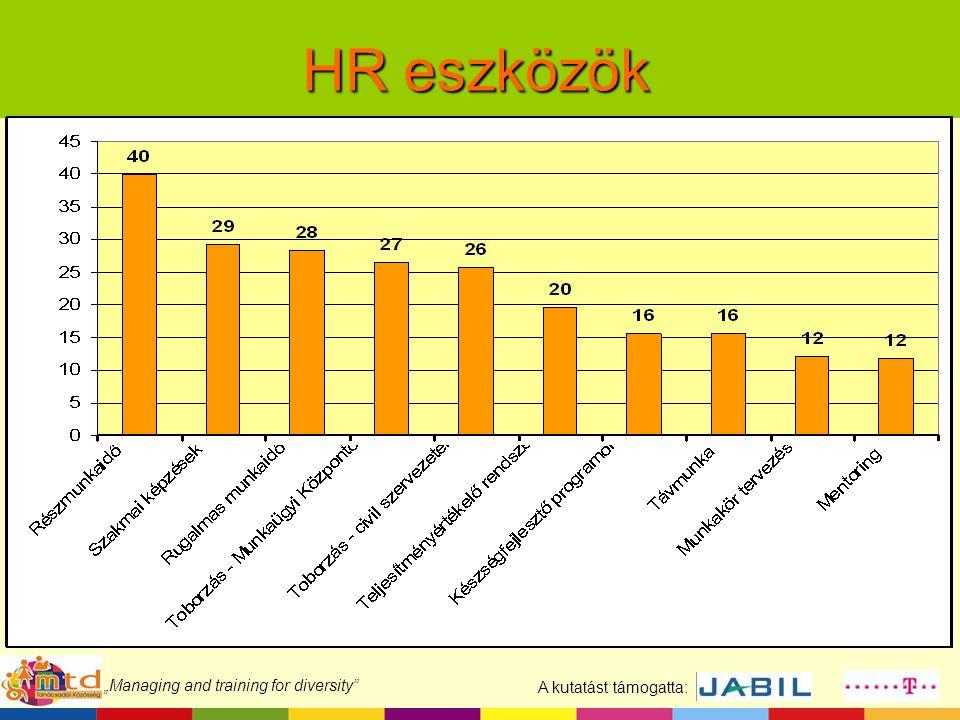 """A kutatást támogatta: """"Managing and training for diversity"""" HR eszközök"""