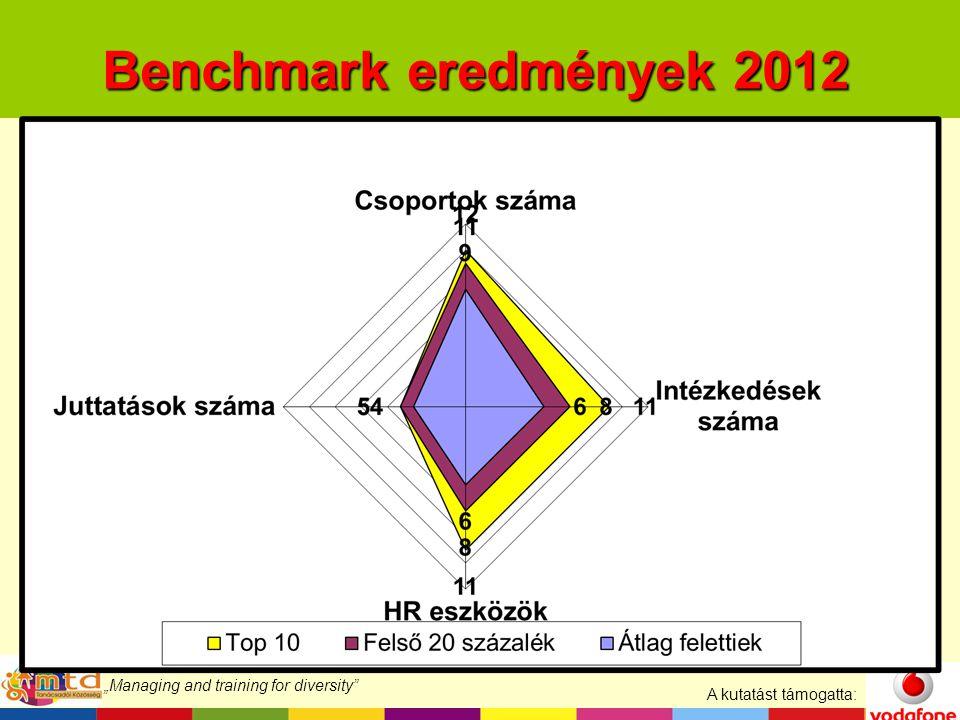 """A kutatást támogatta: """"Managing and training for diversity Benchmark eredmények 2012"""