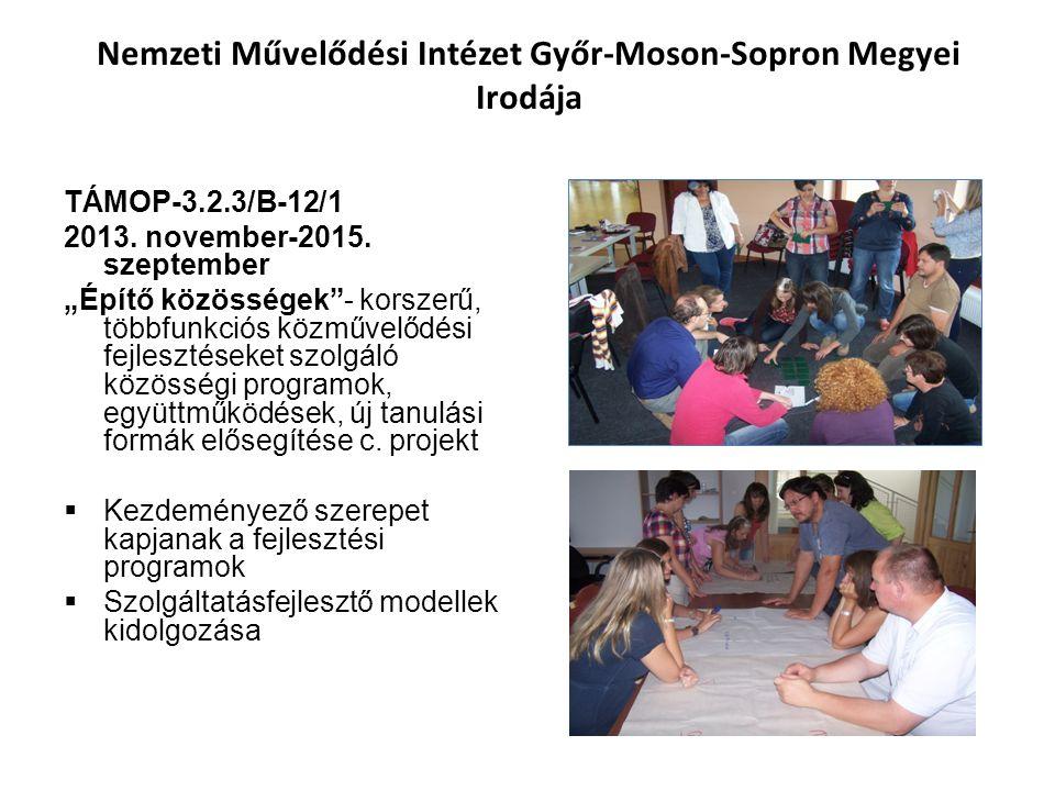 Nemzeti Művelődési Intézet Győr-Moson-Sopron Megyei Irodája TÁMOP-3.2.3/B-12/1 2013.