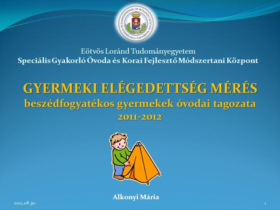 Mérhető 25 gyermek Nem mérhető 1 gyermek 2011/2012.
