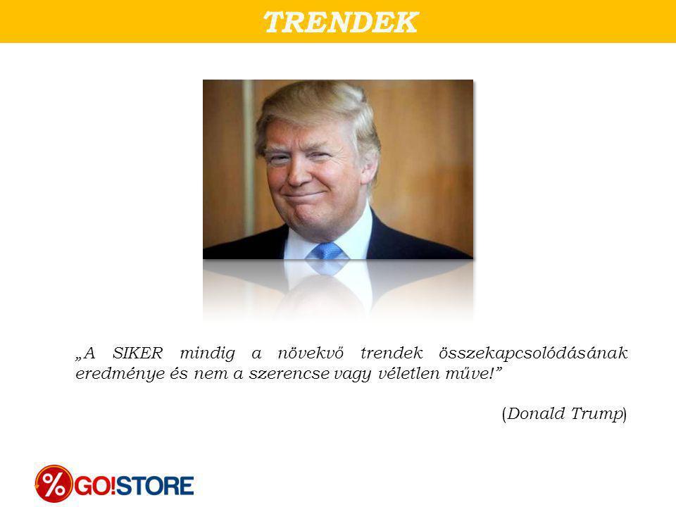 """TRENDEK """"A SIKER mindig a növekvő trendek összekapcsolódásának eredménye és nem a szerencse vagy véletlen műve!"""" ( Donald Trump )"""