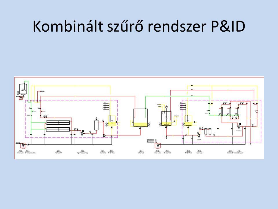 Kombinált szűrő rendszer P&ID