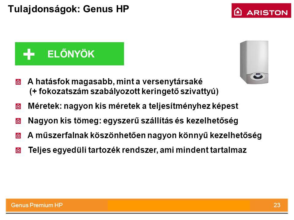 July 2008Genus Premium HP23 Tulajdonságok: Genus HP A hatásfok magasabb, mint a versenytársaké (+ fokozatszám szabályozott keringető szivattyú) Mérete
