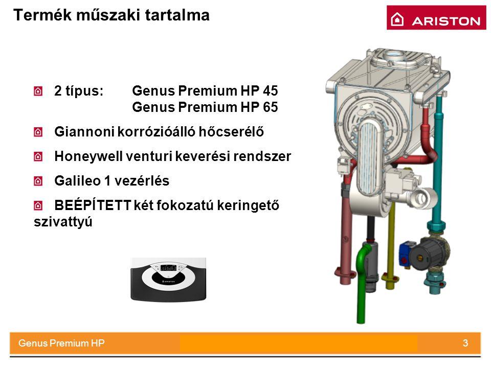 July 2008Genus Premium HP3 Termék műszaki tartalma 2 típus:Genus Premium HP 45 Genus Premium HP 65 Giannoni korrózióálló hőcserélő Honeywell venturi k