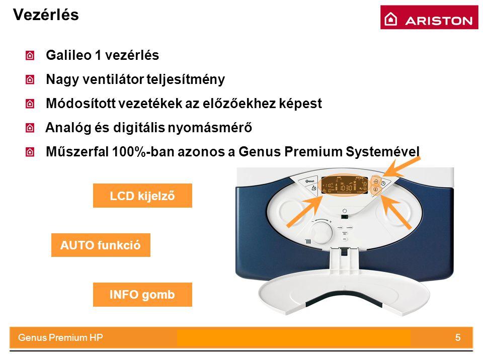 July 2008Genus Premium HP5 Vezérlés Galileo 1 vezérlés Nagy ventilátor teljesítmény Módosított vezetékek az előzőekhez képest Analóg és digitális nyom