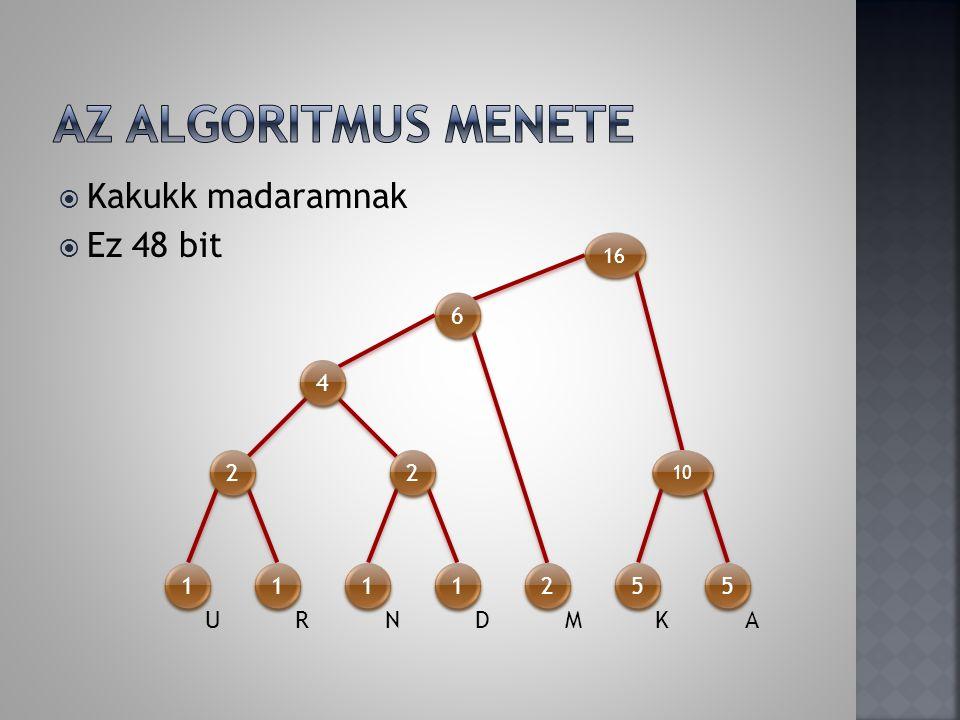 M M K K A A U U R R N N D D 10 1 1 11 1 0 0 00 0 4×(1×4)+2×2+2×(2×5)= 40 bit  83.3%