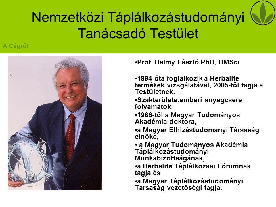 Nemzetközi Táplálkozástudományi Tanácsadó Testület Prof.