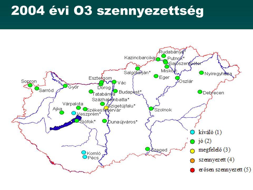 2004 évi O3 szennyezettség