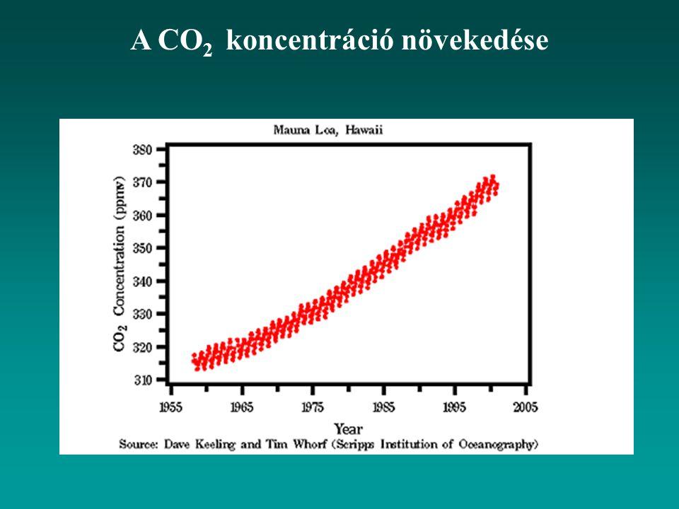 A CO 2 koncentráció növekedése