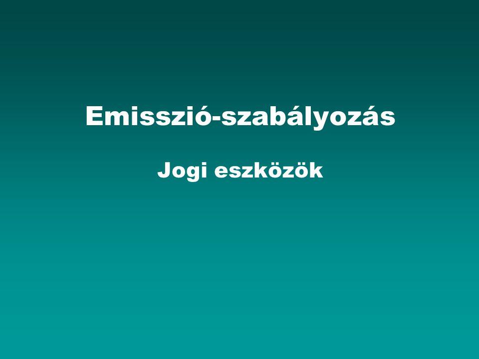 Emisszió-szabályozás Jogi eszközök
