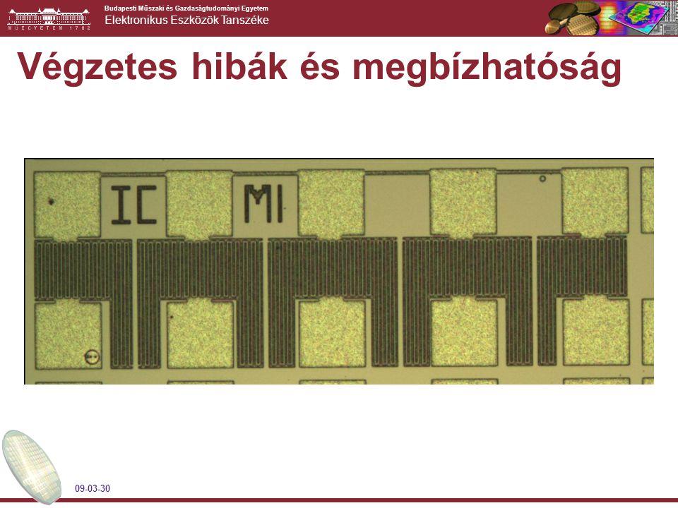 Budapesti Műszaki és Gazdaságtudományi Egyetem Elektronikus Eszközök Tanszéke 09-03-30 Végzetes hibák és megbízhatóság