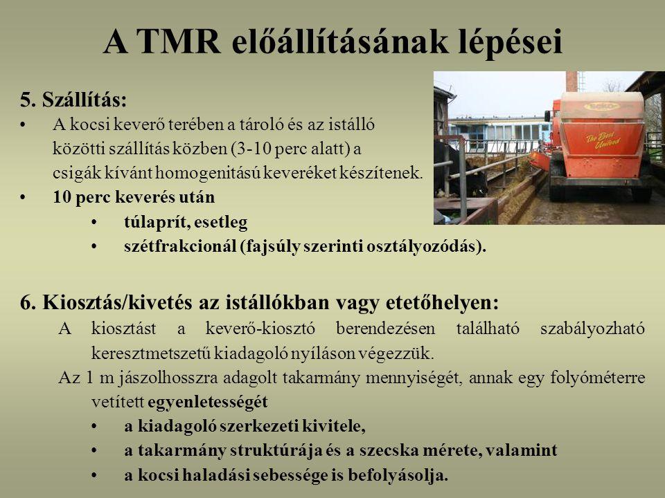 A TMR előállításának lépései 5.