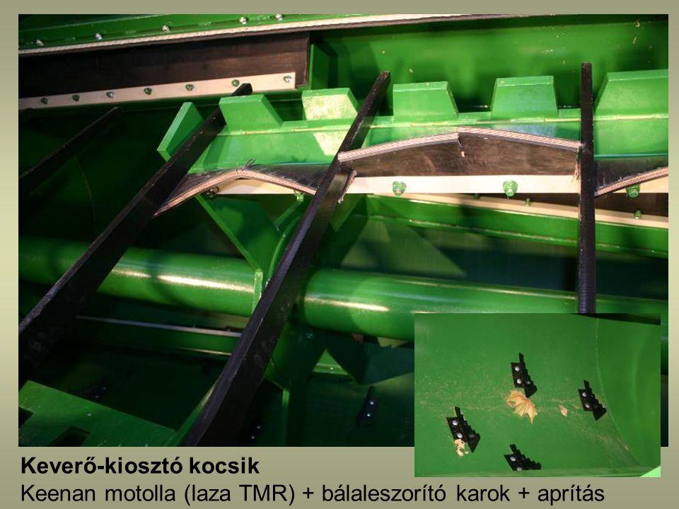 Keverő-kiosztó kocsik Keenan motolla (laza TMR) + bálaleszorító karok + aprítás