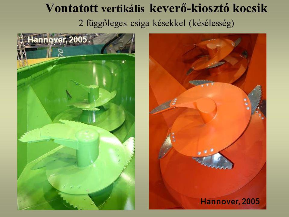 Vontatott vertikális keverő-kiosztó kocsik 2 függőleges csiga késekkel (késélesség) Hannover, 2005