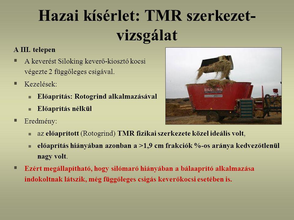 Hazai kísérlet: TMR szerkezet- vizsgálat A III.