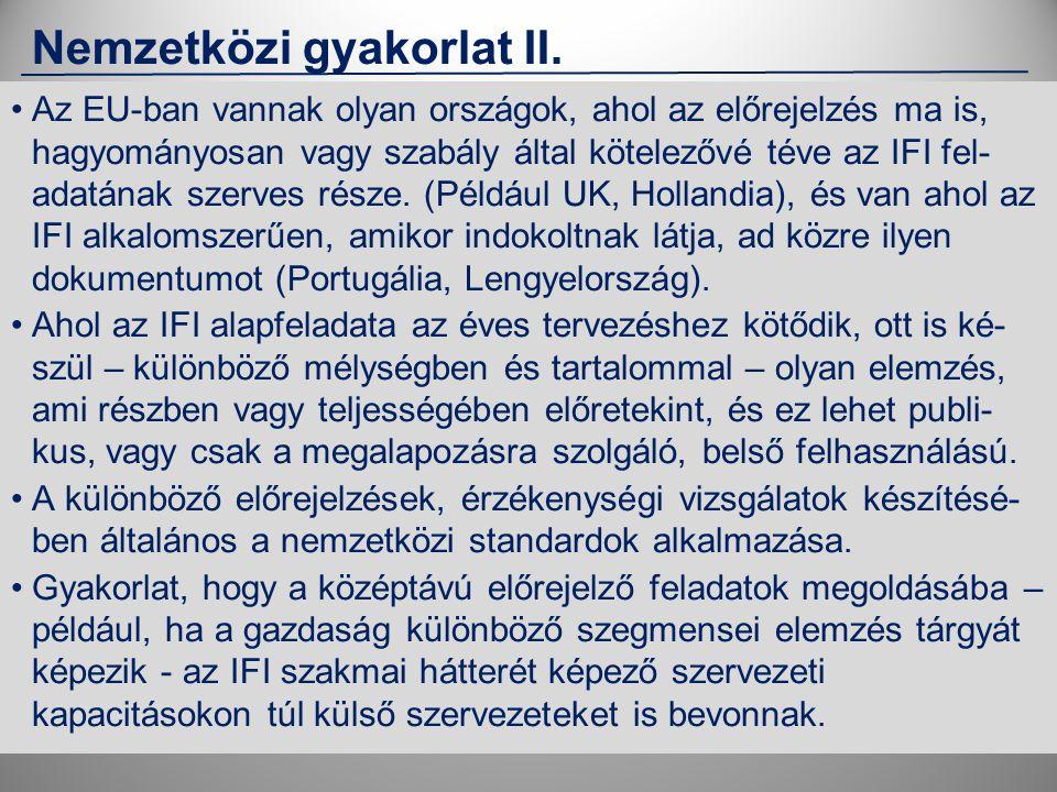 Nemzetközi gyakorlat II.