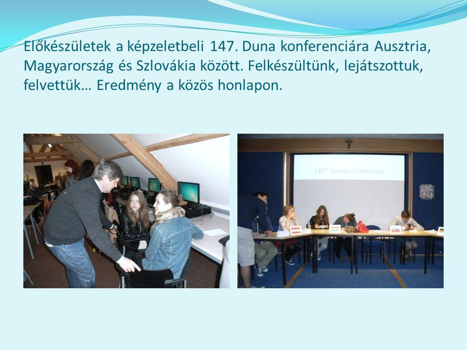 Előkészületek a képzeletbeli 147. Duna konferenciára Ausztria, Magyarország és Szlovákia között.