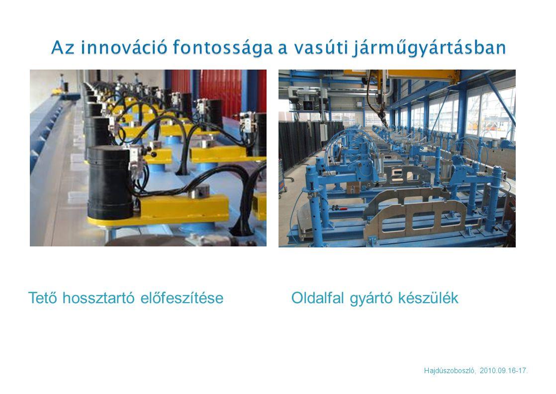 Hajdúszoboszló, 2010.09.16-17. Tető hossztartó előfeszítése Oldalfal gyártó készülék