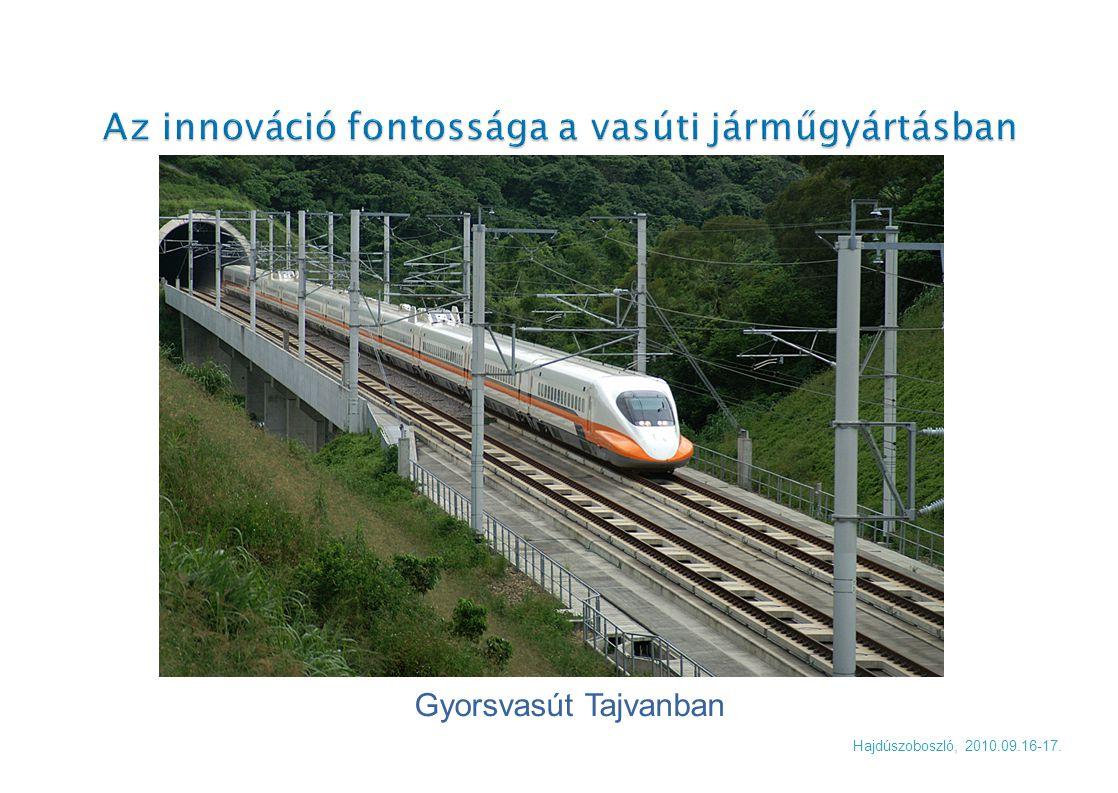  További jellemzője napjaink vasúti személyszállítás fejlesztéseinek a motorvonatok előretörése a mozdony- vontatott kocsi konstrukciókkal szemben.