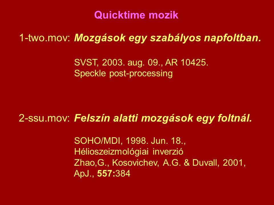 Quicktime mozik 1-two.mov: Mozgások egy szabályos napfoltban.