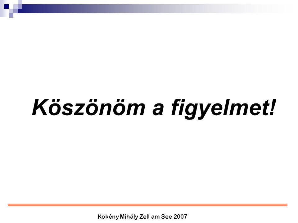 Kökény Mihály Zell am See 2007 Köszönöm a figyelmet!