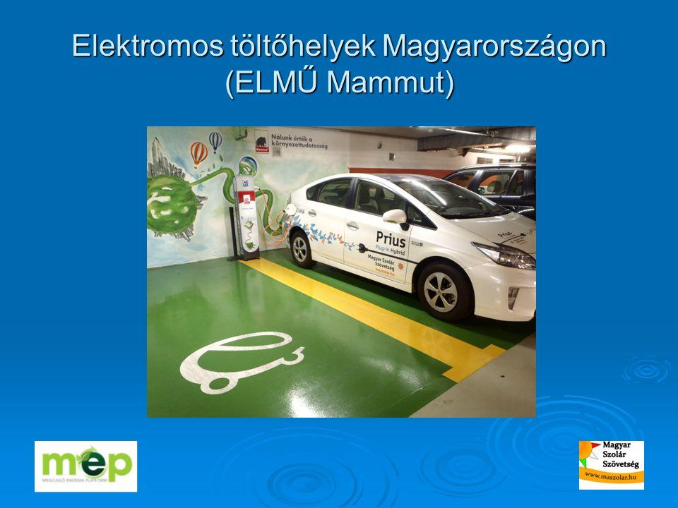 Elektromos töltőhelyek Magyarországon (ELMŰ Mammut)
