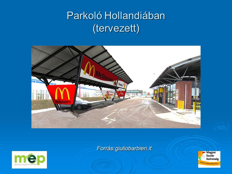 Parkoló Hollandiában (tervezett) Forrás:giuliobarbieri.it