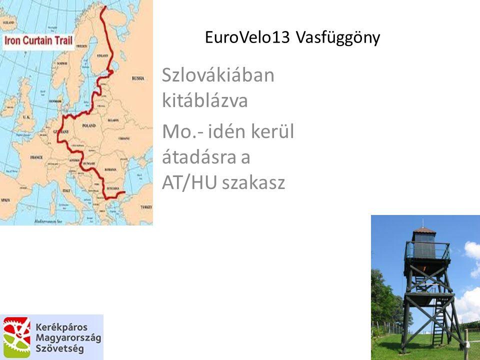 EuroVelo13 Vasfüggöny Szlovákiában kitáblázva Mo.- idén kerül átadásra a AT/HU szakasz