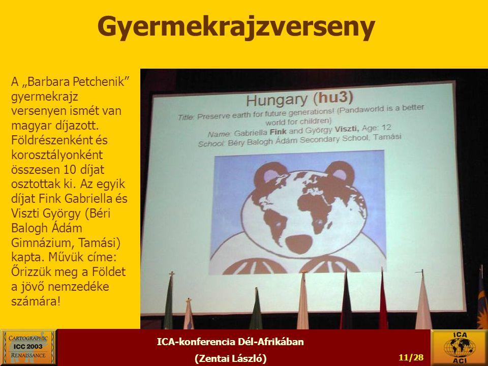 """ICA-konferencia Dél-Afrikában (Zentai László) 11/28 Gyermekrajzverseny A """"Barbara Petchenik gyermekrajz versenyen ismét van magyar díjazott."""