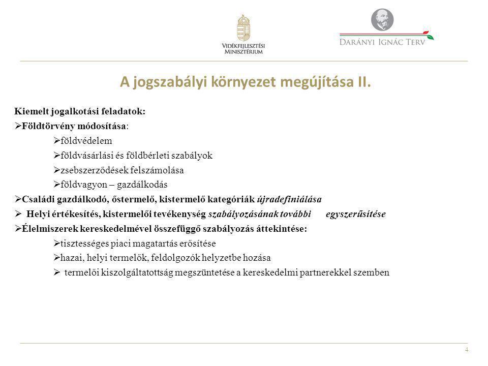 4 A jogszabályi környezet megújítása II.