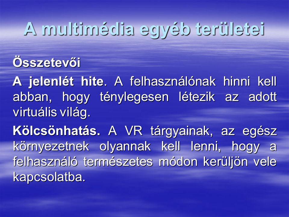 A multimédia egyéb területei Összetevői A jelenlét hite.
