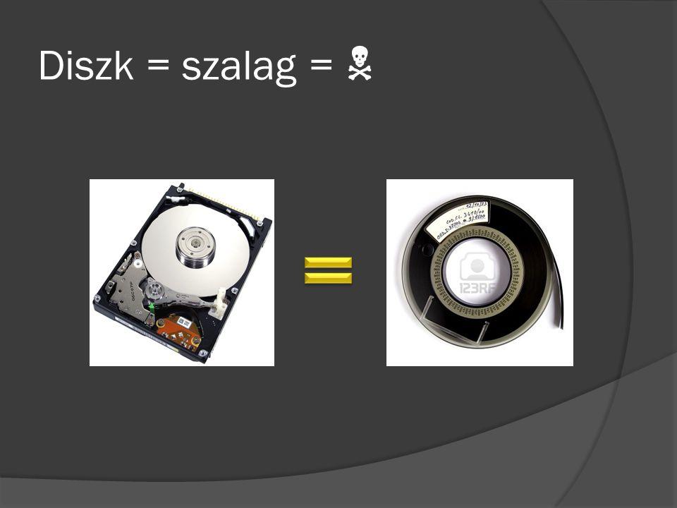 Diszk = szalag = 