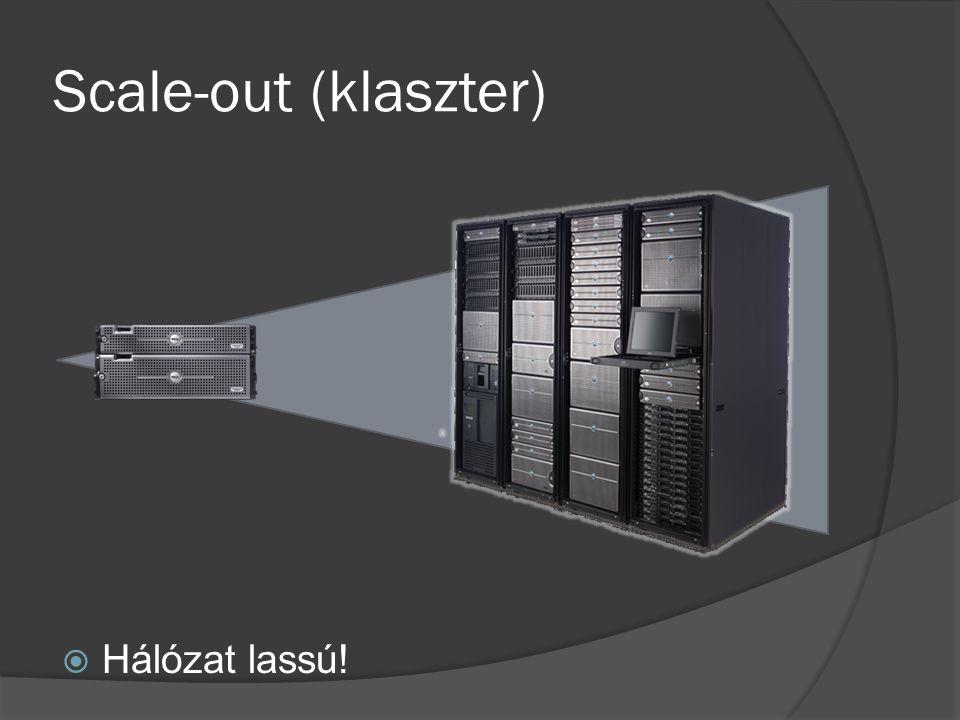 Scale-out (klaszter)  Hálózat lassú!