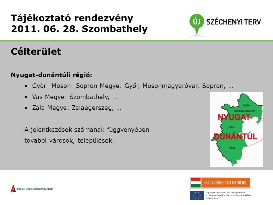 Tájékoztató rendezvény 2011.06. 28.