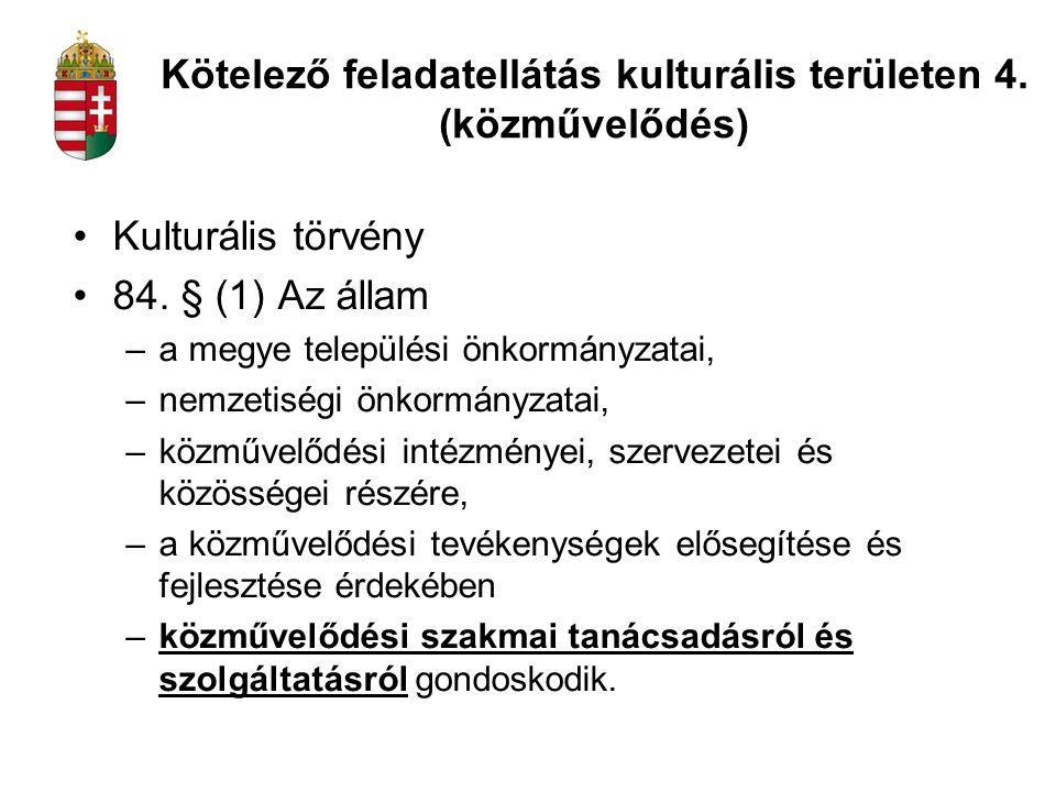 Kulturális törvény 84.