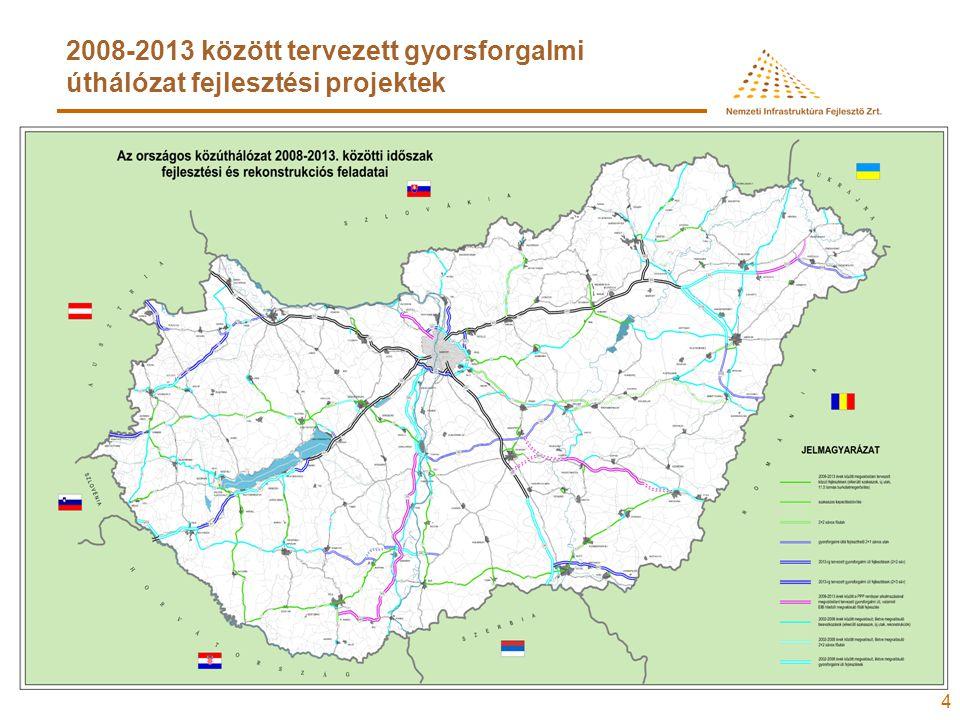 15 2008-ban induló gyorsforgalmi- és közútépítési nagyberuházások
