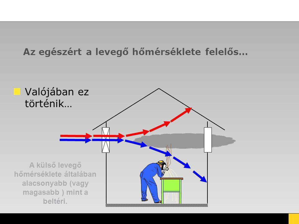 Az egészért a levegő hőmérséklete felelős… Valójában ez történik… A külső levegő hőmérséklete általában alacsonyabb (vagy magasabb ) mint a beltéri.
