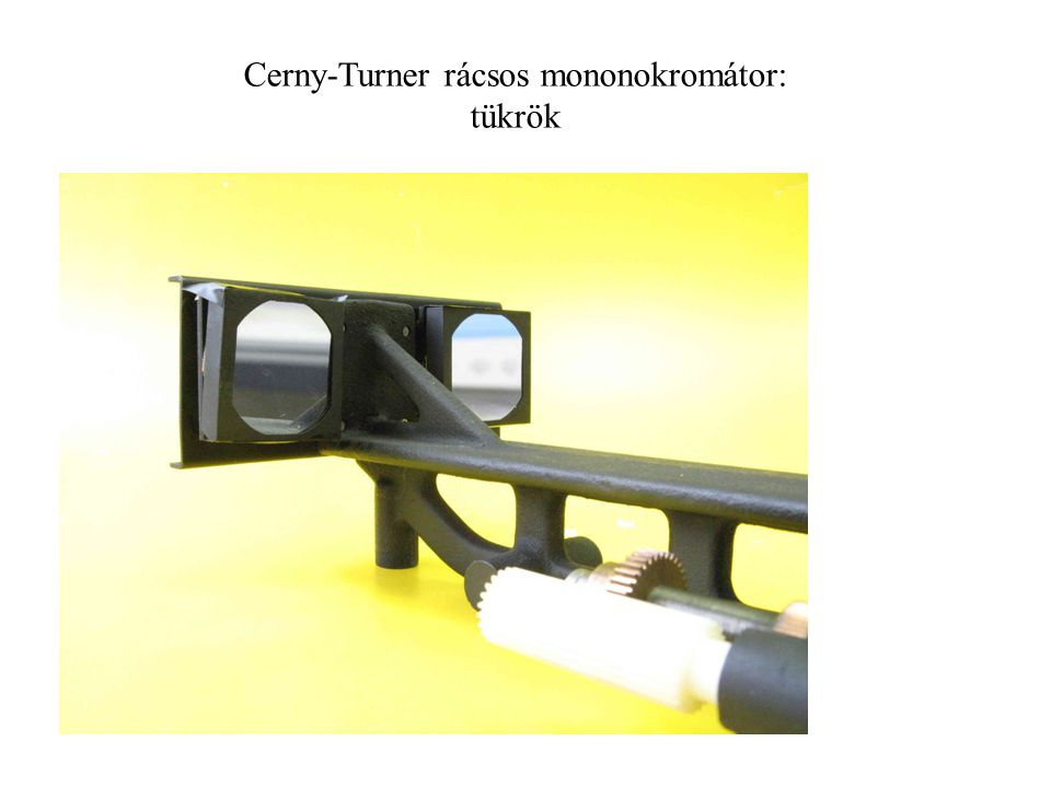 Cerny-Turner rácsos mononokromátor: tükrök