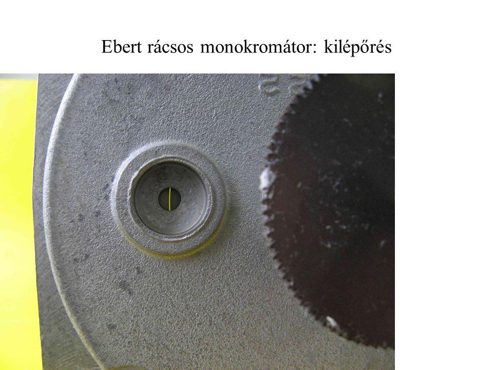 Ebert rácsos monokromátor: kilépőrés