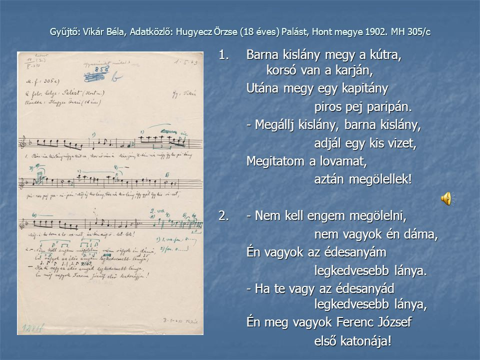 Vikár Béla folklórgyűjtő-úton, 1900 Pannon Enciklopédia.