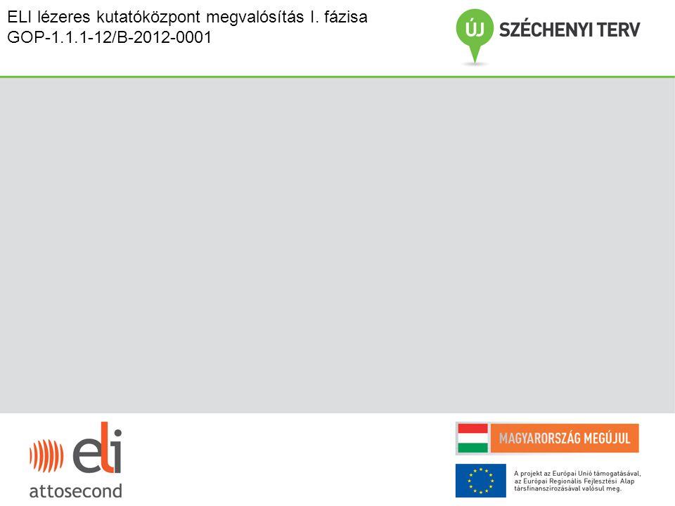 ELI lézeres kutatóközpont megvalósítás I. fázisa GOP-1.1.1-12/B-2012-0001