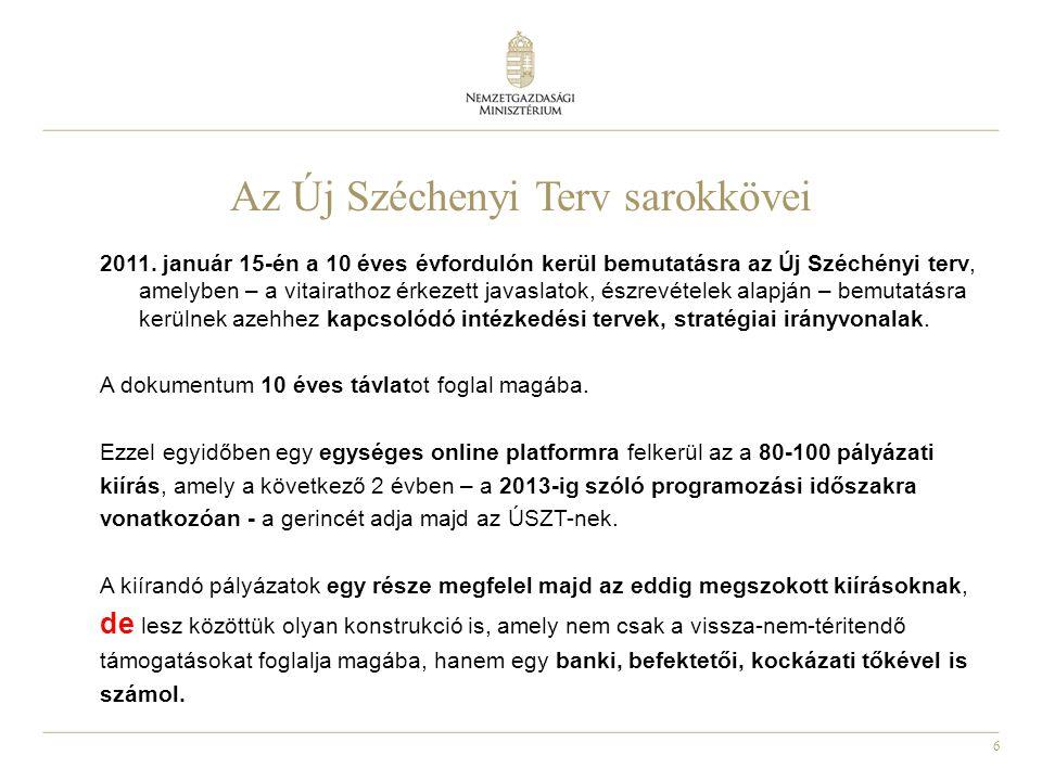 6 Az Új Széchenyi Terv sarokkövei 2011.