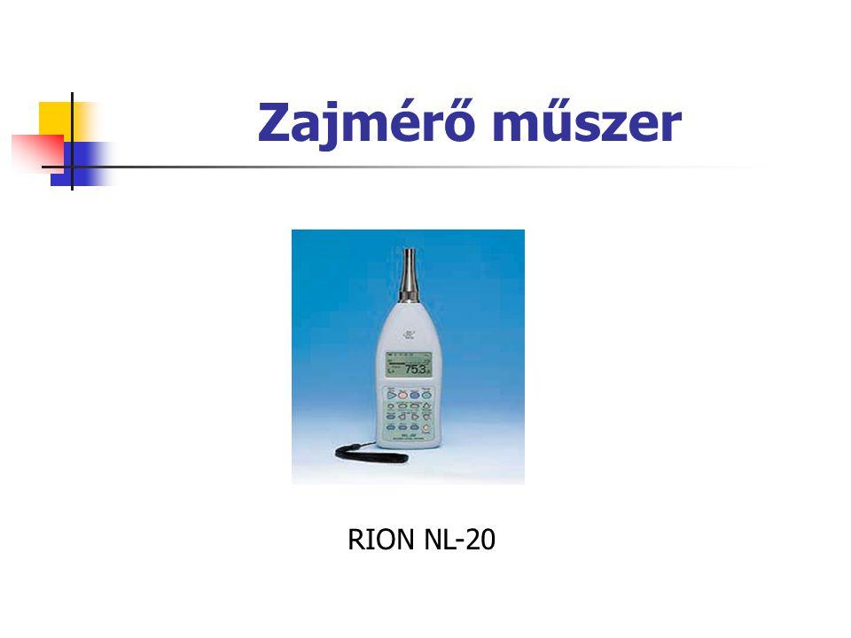 Zajmérő műszer RION NL-20