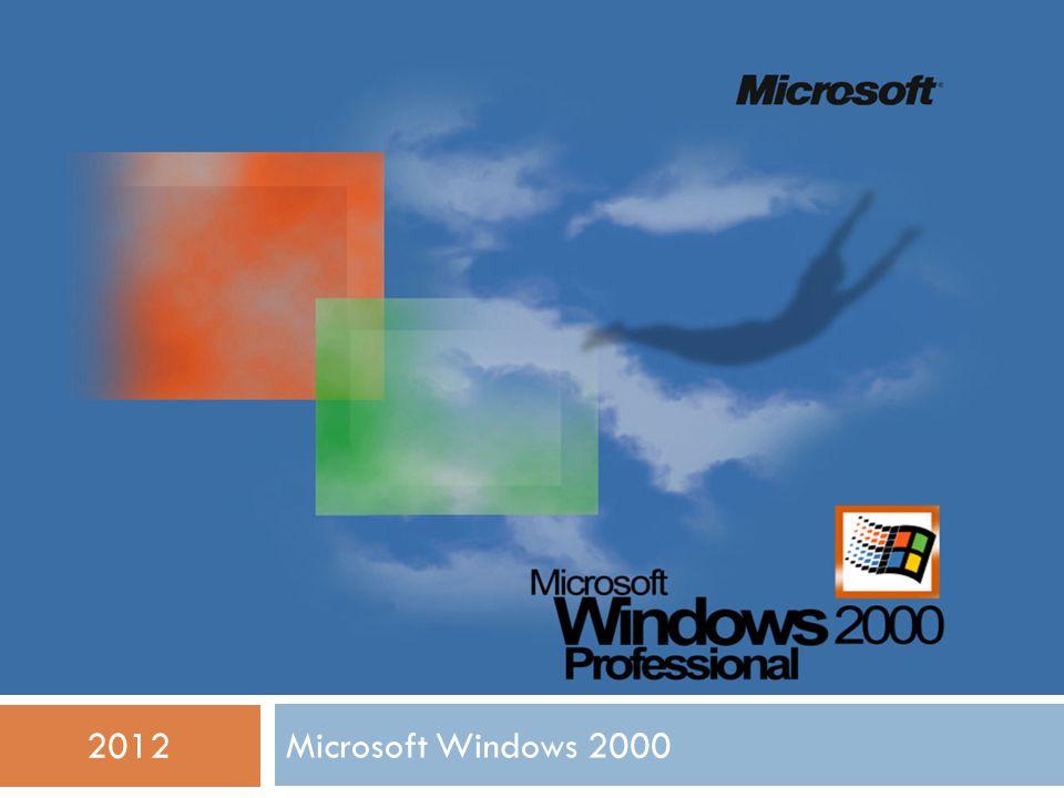 Microsoft Windows 2000 2012