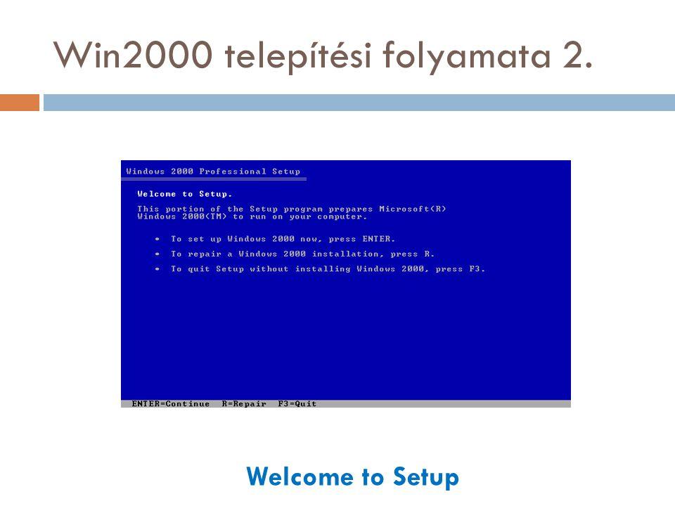 Forrás  Informatikai és Hírközlési Minisztérium: Operációs rendszerek Microsoft Windows 2000 Tananyag  http://www.labtestproject.com/screenshot/w2k- pro/index.html http://www.labtestproject.com/screenshot/w2k- pro/index.html  http://www.blackviper.com/Articles/OS/Install2kPro/in stall2kpro1.htm http://www.blackviper.com/Articles/OS/Install2kPro/in stall2kpro1.htm  http://mek.oszk.hu/01200/01246/01246.pdf http://mek.oszk.hu/01200/01246/01246.pdf  http://www.vidanet.hu/dokumentumok/segitseg/5950_ halozatibeallitasok.pdf http://www.vidanet.hu/dokumentumok/segitseg/5950_ halozatibeallitasok.pdf  http://winportal.net/?id=14 http://winportal.net/?id=14