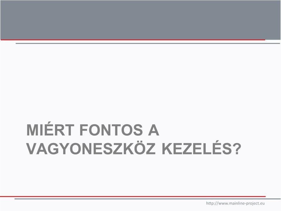 MIÉRT FONTOS A VAGYONESZKÖZ KEZELÉS