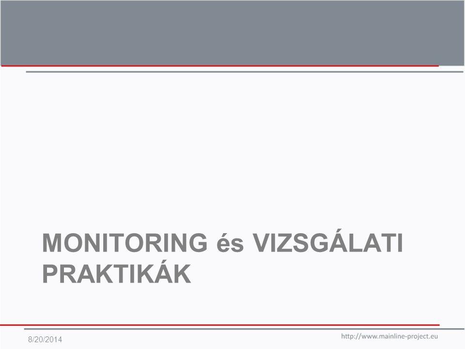 MONITORING és VIZSGÁLATI PRAKTIKÁK 8/20/2014