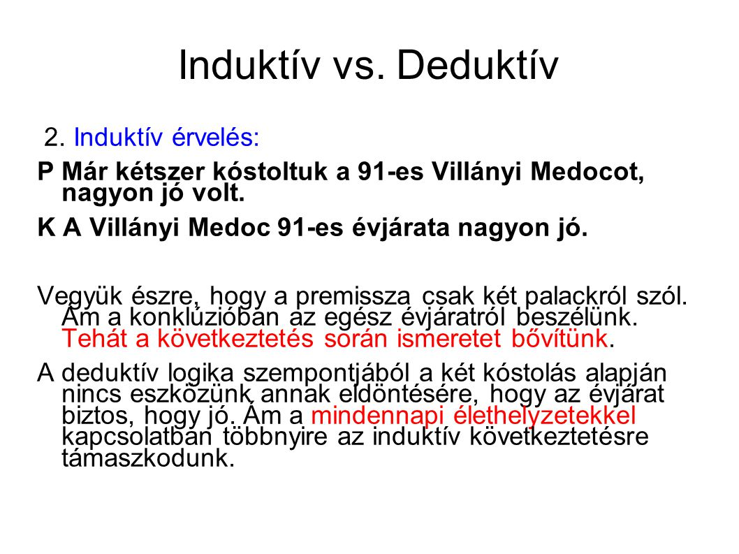 Induktív vs. Deduktív 2.